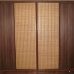 Шкафы-купе с бамбуком