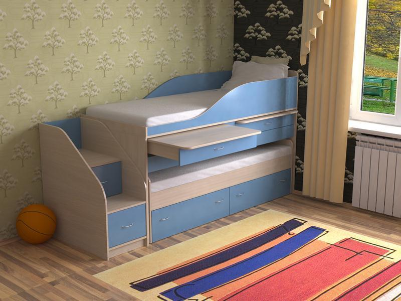 Выдвижные кровати для двоих