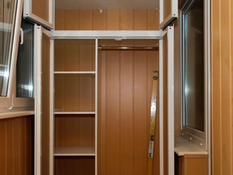 Обшивка балкона своими руками шкафы шкафчики полки
