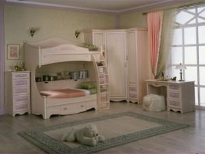 Мебель для детской комнаты для девочки.