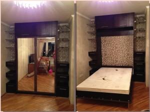 Шкаф со встроенной кроватью.